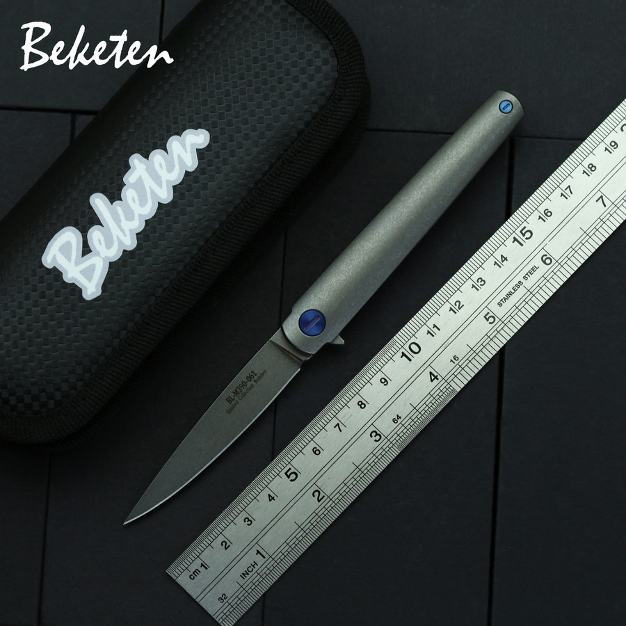 BEKETEN Fishbone M390 титановый складной нож для рыбалки на открытом воздухе, охоты, приключений, кемпинга, выживания, карманные ножи, инструменты для повседневного использования|Ножи|   | АлиЭкспресс