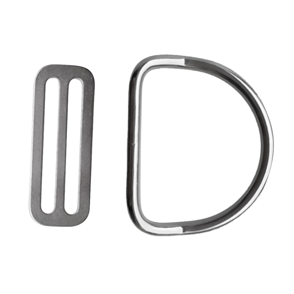 Standard 2 Inch/50mm Weight Belt Keeper Retainer & D Ring For Underwater Scuba Diving Snorkeling
