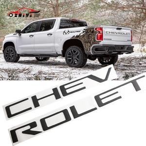 Pegatina de coche adecuada para Chevrolet SILVERADO adecuada para caja de cola etiqueta modificada Etiqueta de camioneta Etiqueta de camión 3D etiqueta palabras Abs