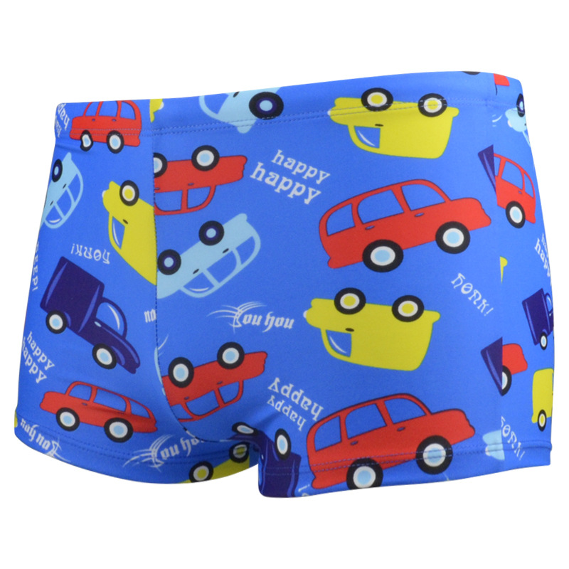 Wholesale Supply Big Boy Cartoon CHILDREN'S Swimming Trunks Group Buying Boys' swimming trunks Good Stretch Elastane Fabric