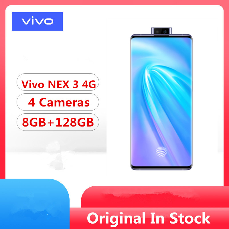 "DHL Fast Delivery Vivo Nex 3 4G LTE Cell Phone Snapdragon 855 Plus 6.89"" Super Amoled 8GB RAM 128GB ROM 64.0MP 44W Charger(China)"