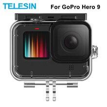 TELESIN 50M กันน้ำใต้น้ำดำน้ำเลนส์นิรภัยสำหรับ GoPro Hero 9สีดำกล้องอุปกรณ์เสริม
