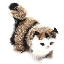 Имитация кошки вокальные украшения моделирование животных модель игрушки куклы подарки домашняя установка украшения для гостиной