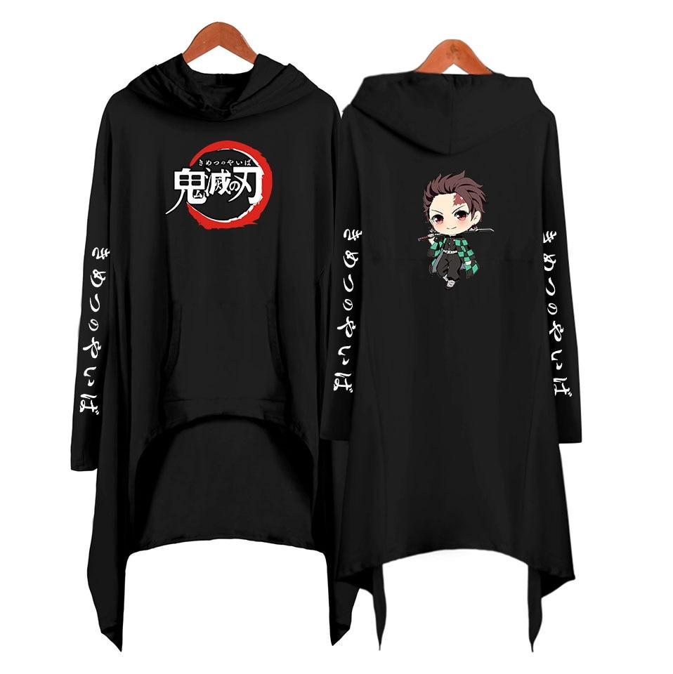 Anime Kimetsu No Yaiba Cosplay Costume Demon Slayer Kamado Tanjirou 3D Printing Adult Hooded Dress Bat Clothes Windbreaker