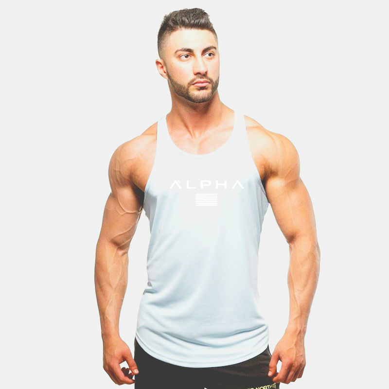 2019 New Gyms Workout Sleeveless Shirt Tank Top Men Bodybuilding Clothing Fitness Mens Sportwear Vests Muscle Men Tank Tops