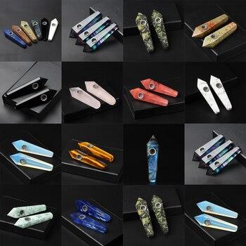 Натуральная кварцевая курительная трубка, кристальная палочка, лечебный кристалл, драгоценный камень с металлическим фильтром, оптовая це...