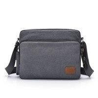 Cross Border for Korean style Men Graphite Canvas Bag Shoulder Horizontal Version of Classic Shoulder Bag Multi pockets Casual M