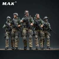 JOYTOY 1/18 Scale US Marine Corps Action Soldier Toys 5 Figures Set JTUS003 Gift Collectible for boys children collection