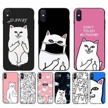 Fhnblj Cartoon Trend Kat Ripndip Shell Telefoon Case Voor Iphone 11 Pro Max X Xs Max 6 6S 7 8 Plus 5 5S 5SE Xr SE2020(China)