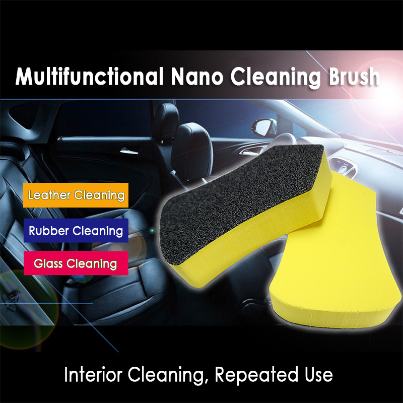 Car Nano Cleaning Brush Interior Cleaning Brush For Car Leather Seat  Felt Washing Tool Auto Care Detailing Tool Polishing Brush