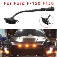 A grade dianteira do carro conduziu a luz do fumo do estilo do raptor lâmpada âmbar para ford F-150 f150 2010-2018 grade dianteira do carro conduziu luzes