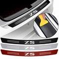 Багажник автомобиля заднего бампера нагрузки край царапин защитная наклейка для MG ZS автомобильные аксессуары из углеродного волокна декор...