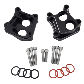 Complete Set - CNC Motorcycle Front Rear Lifter Tappet Block For Harley Twin Cam 99-17,with Screw and Rubber Rings