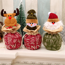 1pc New Christmas Childrens Gift Bags Burlap Closure Apple Eve Candy 3 Styles