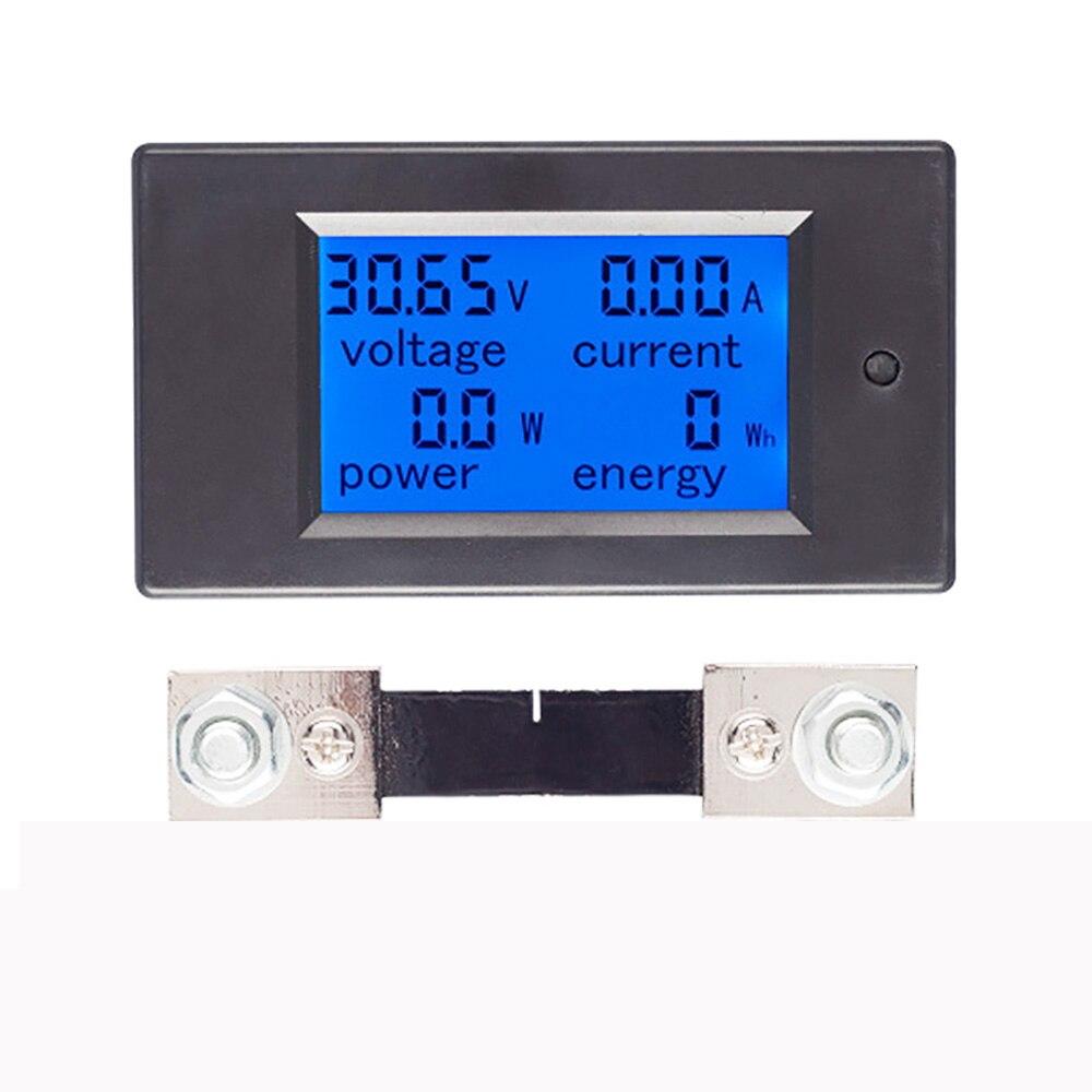DC 6.5-100V 0-100A LCD Display Digital Current Voltage Power Energy Meter Multimeter Ammeter Voltmeter W/ 100A Current Shunt
