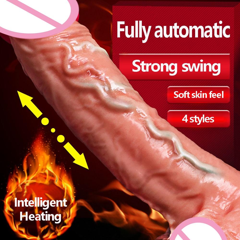 Erotic Toy Dildo Vibrator Realistic Penis Anal Butt Plug Strong Vibration Swing G Spot Vibrator Sex Toys For Woman Consolador