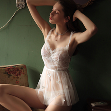 Fairy Ballet Cute Nightdress Christmas Sexy Lingerie Perspective Lace Temptation Pajamas for Women Lace Mesh Butterfly Flying