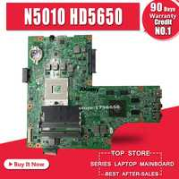 Liberi di inviare cpu 09909-1 Per DELL inspiron N5010 CN-0VX53T CN-052F31 09909-1 48.4HH01.011 HM57 HD5650 GPU originale scheda madre di prova