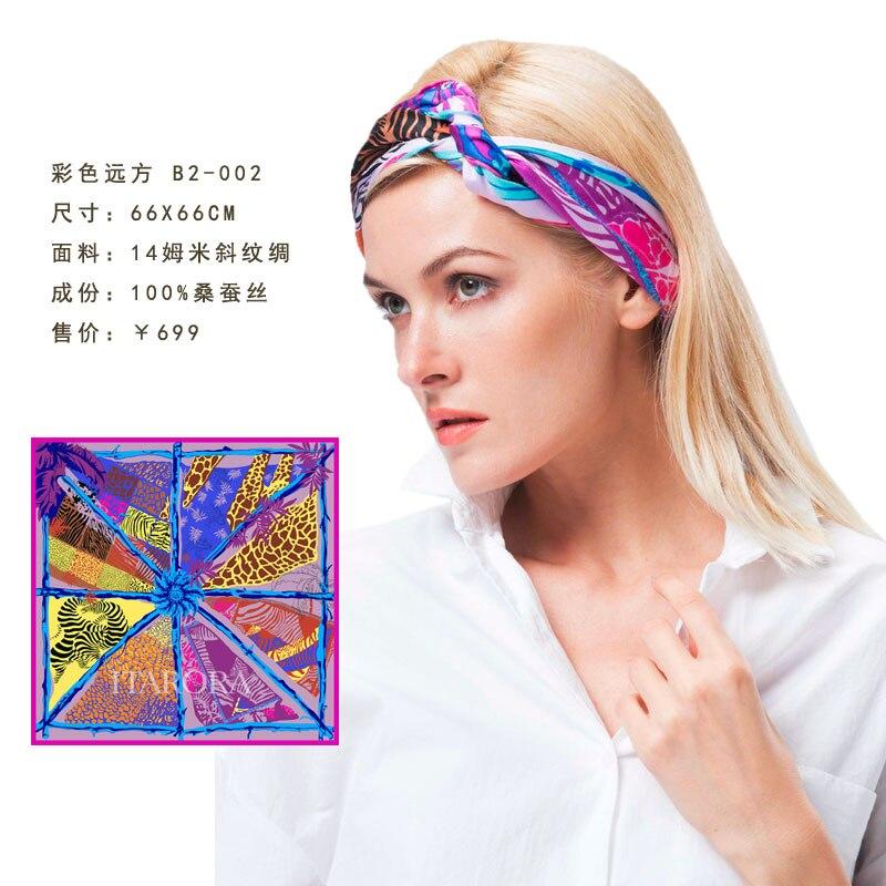 Luxus marke aurora ITARORA Damen 100% silk schal allover print 14mm Satin natürliche seide schal 66cm 26 high end qualität