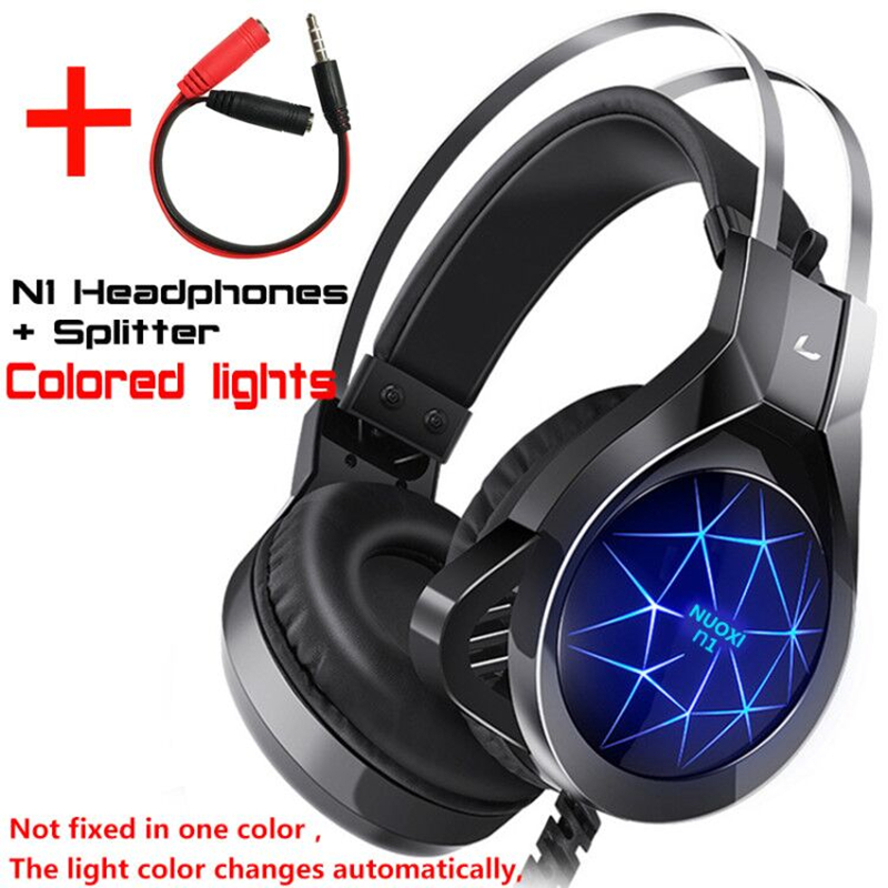 Gaming Headset Headphones with Microphone Light Surround Sound   Bass Earphones For PS4 Xbox One Professional Gamer PC Laptop 4