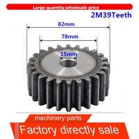 2m39teeth 2mod engrenagem pinhão buraco em branco spur engrenagem precisão indústria 45 engrenagem de aço pinhão freqüência endurecer