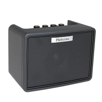 Flatsons Guitar Amplifier Built-in Mini Amp Electric Guitar Bass Rhythm Support Tap Tempo Function with Power Adapter FGA-3