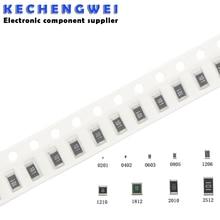100Pcs 1206 SMD resistor 0R ~ 10M 1/4W 0 1 10 100 150 220 330 ohm 1K 2.2K 10K 100K 0R 1R 10R 100R 150R 220R 330R