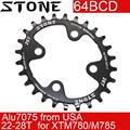 Камень кольцо 64BCD Овальный для Shimano XTM780 M785 22T 24t 26t 28T зуб MTB велосипед зубная пластина 64 bcd