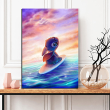 1 Piece HD Cartoon Artwork Paintings Stitch Poster Pictures Canvas Paintings Wall Art for Children Room Wall Decor