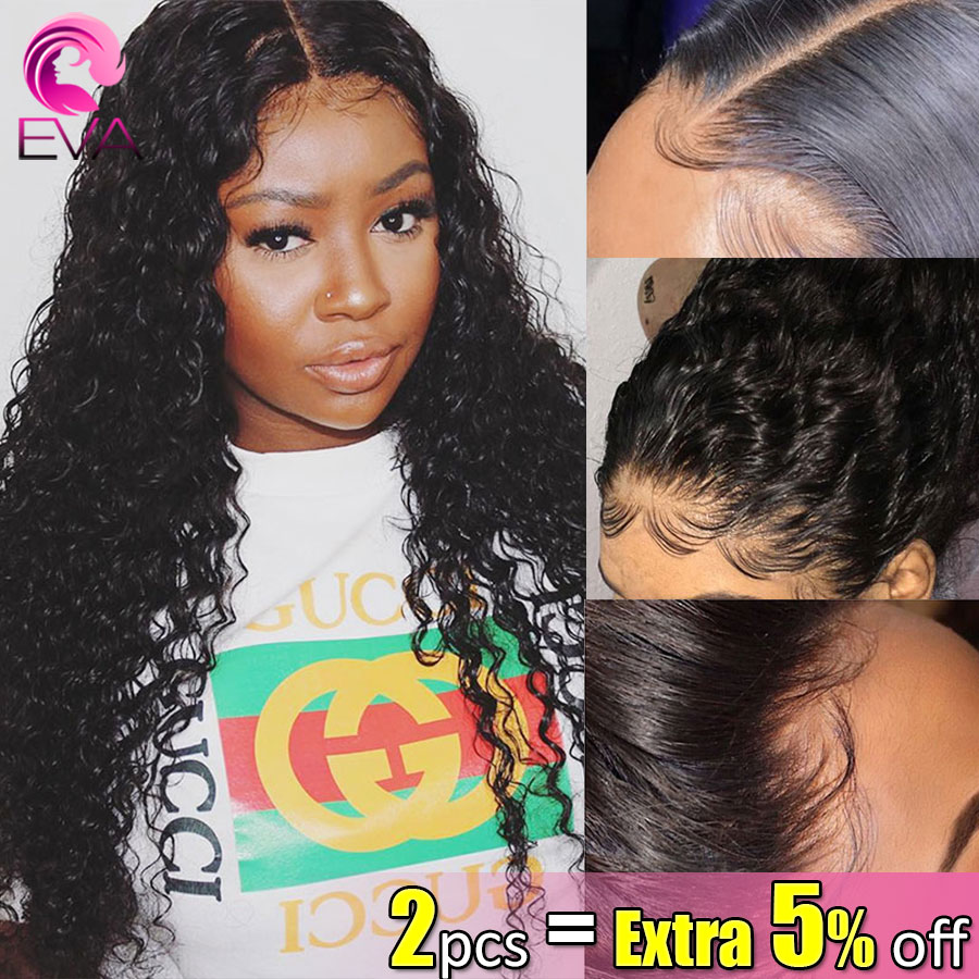 Eva Hair 150% 13x6 Lace Front Human Hair Wigs Pre Plucked With Baby Hair Bleached Knots Curly Remy Hair Wigs For Black Women