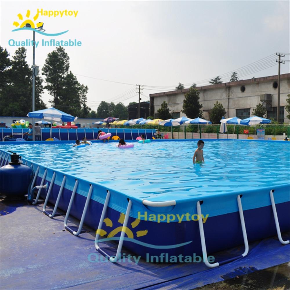 Rectangular Swimming Pool, Big Swimming Metal Frame Above Ground Pool