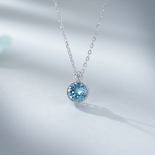 New ocean heart S925 Sterling SR Necklace fashionable and versatile clavicle chain Crystal Pendant Lover Gift new and original sr4m4024 24vdc 10pin sr 4m4 024