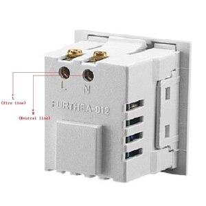 Image 5 - Uniwersalne gniazdo karty wbudowany pulpit, USB gniazdo zasilania Dual USB 2.1A ładowania AC gniazdo ścienne panel do ładowania moduł gniazda wylot