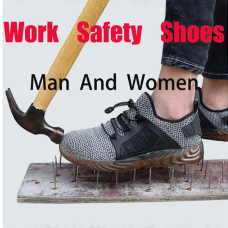 Unbreakable male and female steel head air safety shoes anti-puncture sports shoes breathable shoes labor insurance casual shoes