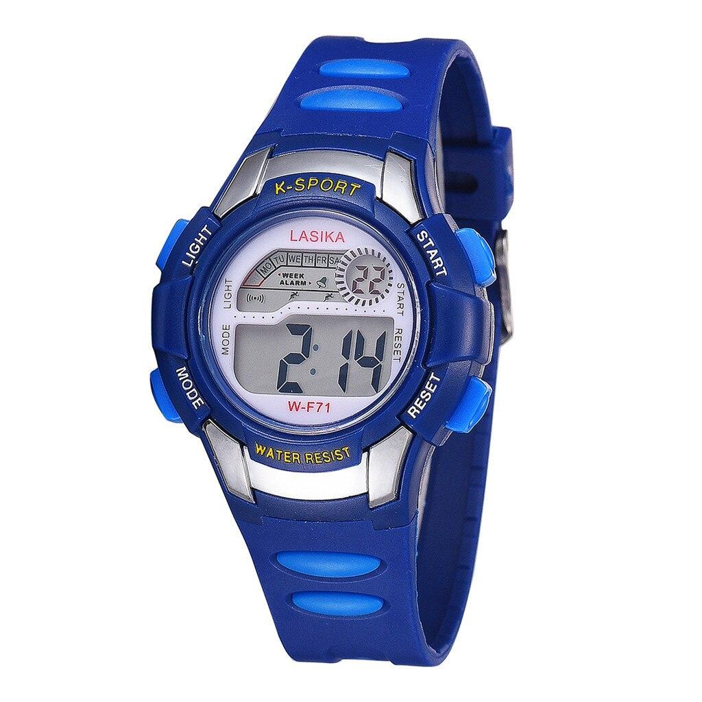 Fashion Bule Plastic Boys Sport Electronic Watch Waterproof Sport Watch For Kids Reloj Niño Montre Enfant Garcon Relogio Digital