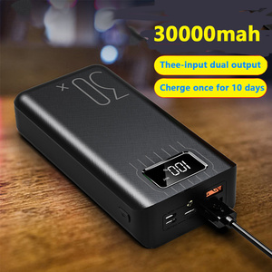 Image 3 - チー急速充電電源銀行 30000mah poverbank typecマイクロusb powerbank ledポータブル外部バッテリー