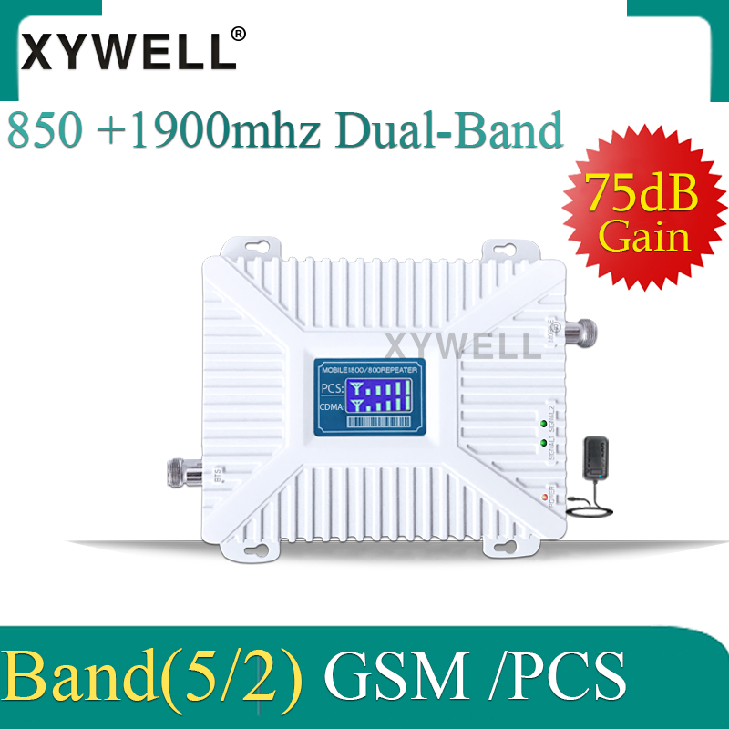 For Peru/Chile 2G 3G 850 1900 GSM 850 PCS 1900MHz Cellular Signal Booster Repeater Band 2 UMTS 1900 CDMA 850 Amplifier Repetidor