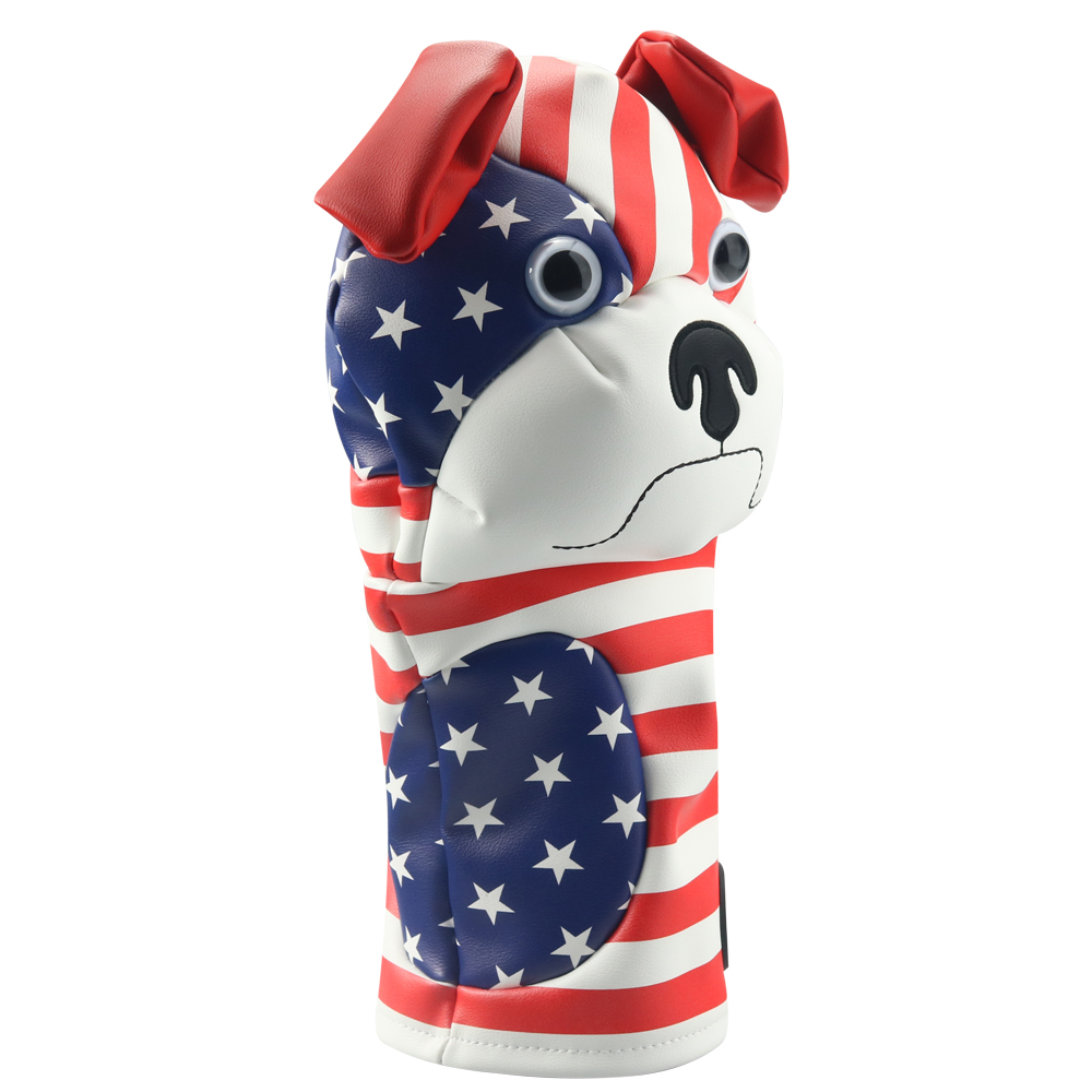 Craftsman Golf Driver Animal Headcover Bulldog 460cc Driver Cover For Clubs Wood Cover PU Leather FREE SHIPPING