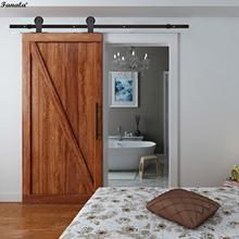 Кофейная Классическая раздвижная дверь сарая оборудование сарая деревянная дверь трек система скользящая направляющая набор аппаратных средств