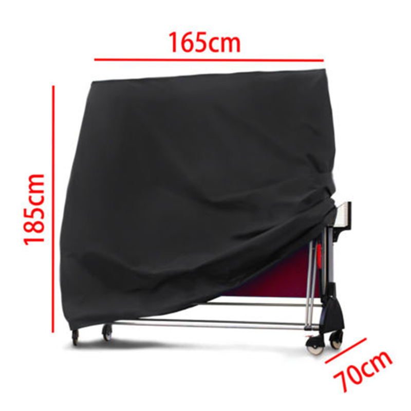 Outdoor Table Tennis / Ping Pong Table Cover Waterproof Dustproof 165x70x185cm Oxford Cloth Cover Quick Operate