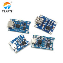 10Pcs MINI Micro USB 5V 1A 18650 TP4056 Lithium Battery Charger Module Charging Board With Protection Dual Functions 1A Li-ion