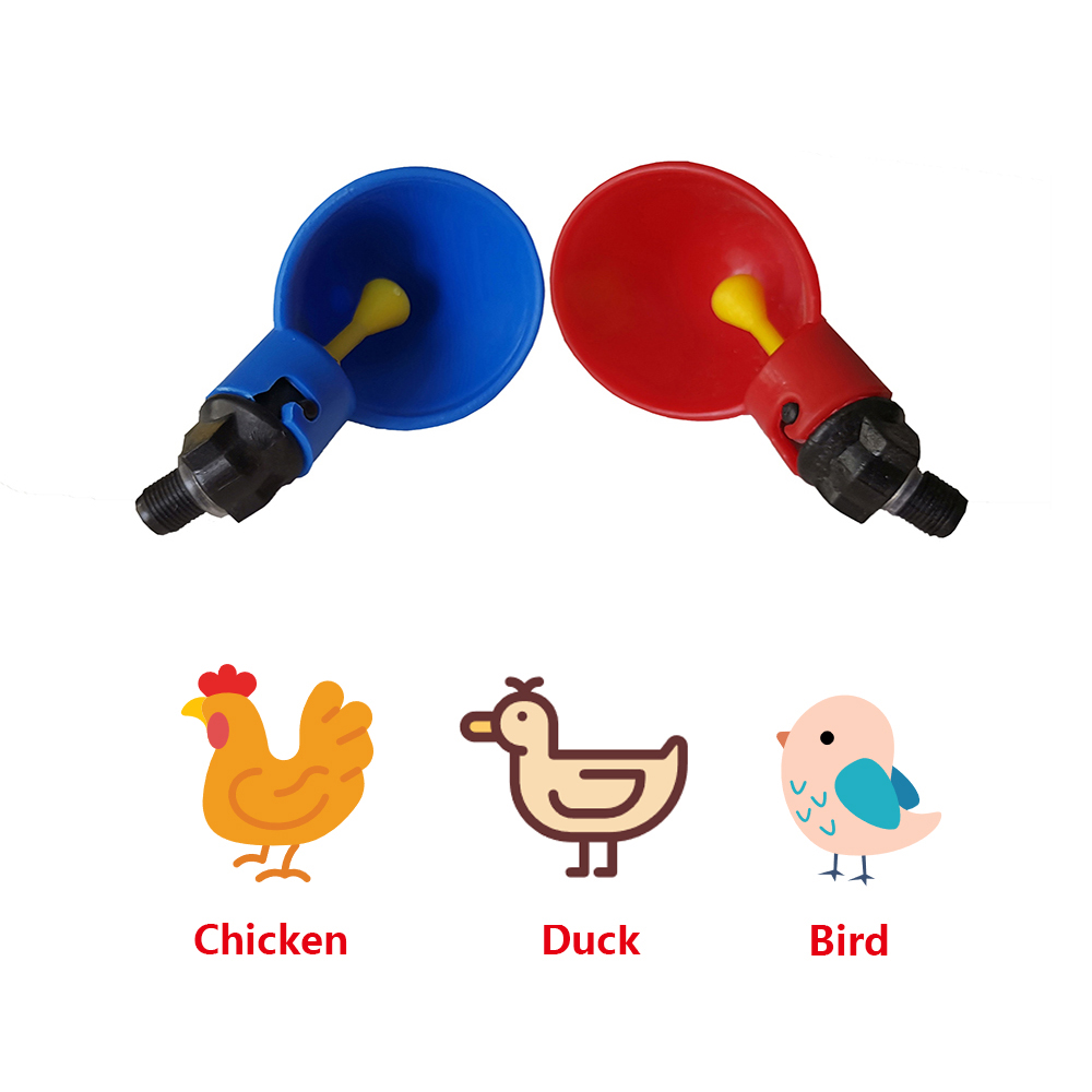 10 PCS Chicken Water Drinker Cups Automatic Poultry Hen Bird Drinking Bowl