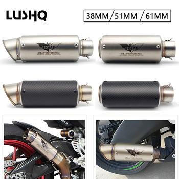 Exhaust Motorcycle exhaust Pipe mufler Escape Moto 51/61mm For bmw f 650 gs honda hornet 900 honda cb600f hornet yamaha nmax 155 image