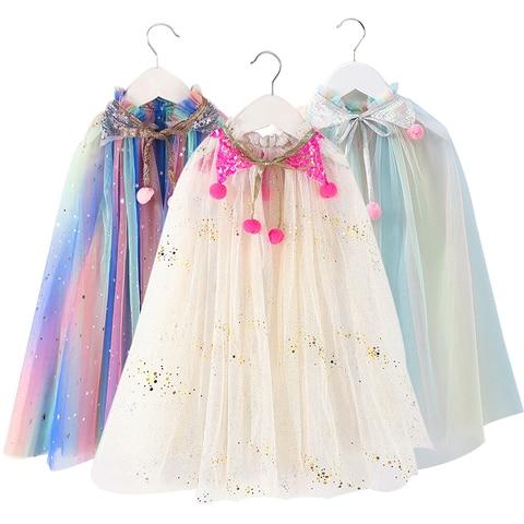 natal um tamanho meninas manto lantejoulas bola tull xale criancas vestido para fora casaco festa