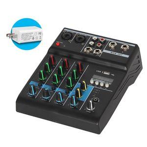 2021 novo profissional mixer 4 canais bluetooth som mixagem console para karaoke