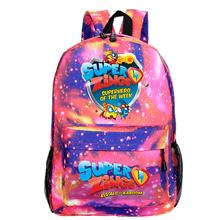 Super Zings Plecak kobiety Bookbag Para Hombre Plecak torby szkolne dla dziewczynek Sac A Dos Homme Galaxy mały Plecak Mochila dzieci tanie tanio abay NYLON Tłoczenie Unisex Miękka 20-35 litr Wnętrze slot kieszeń Kieszeń na telefon komórkowy Wnętrza przedziału