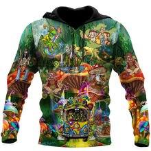 Vida de hippie caras colorido impressão 3d primavera hoodie homem mulher harajuku outwear zíper pulôver moletom casual unisex estilo-1