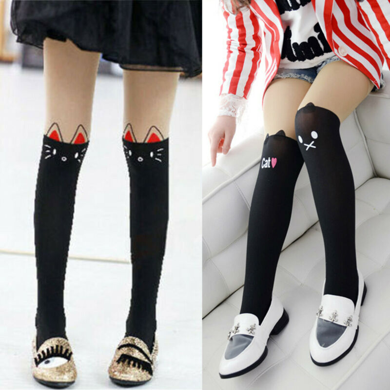 Baby Kids Stockings Devil Cat Cotton Tights Socks Pants Hosiery Pantyhose 3-10T
