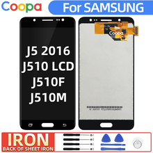 IRON LCD Screen For Samsung Galaxy J5 2016 J510 J510F J510M J510/DS LCD Display Panel+Touch Screen Digitizer Assembl Replacement factory quality ips lcd display 7 85 for supra m847g internal lcd screen monitor panel 1024x768 replacement