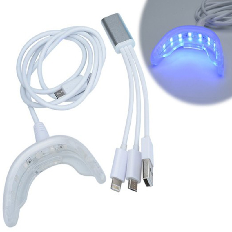 Portable Smart LED Teeth Whitening Device / 3 USB Ports For Android IOS Dental Bleaching System Tooth Whitening Hot